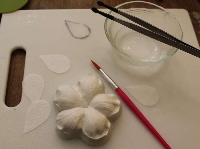 как делать цветы из вафельной бумаги
