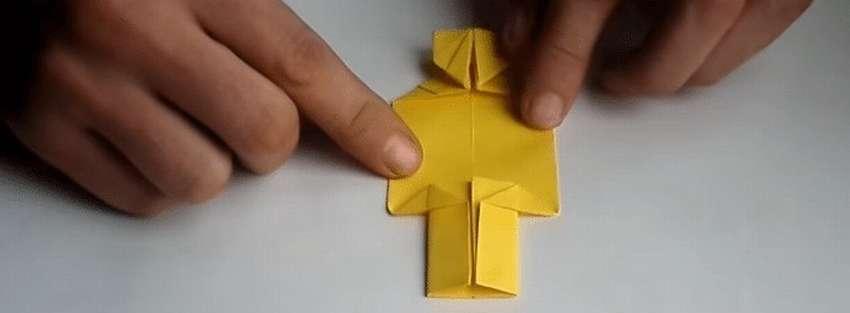 человек оригами