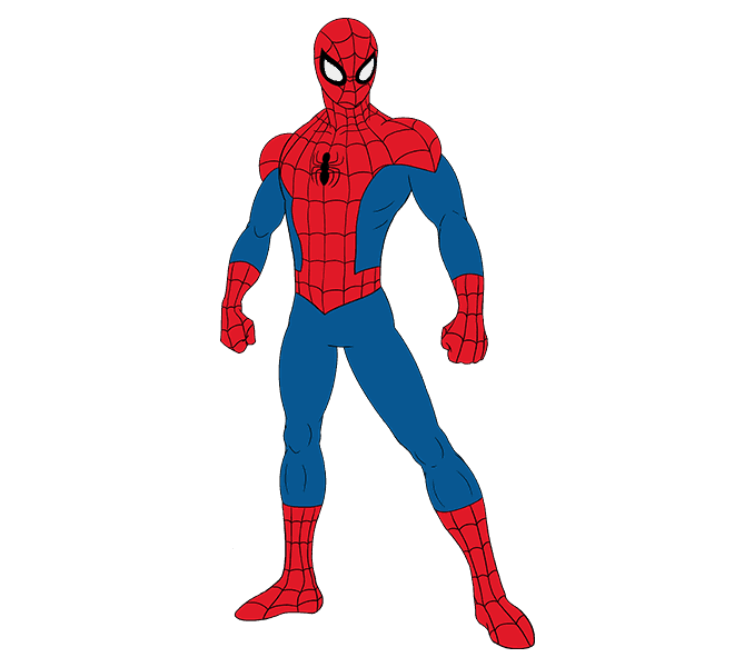 как нарисовать человека паука поэтапно