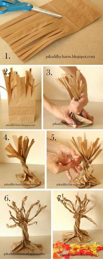 деревао из бумаги своими руками