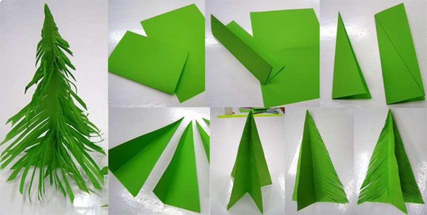 елки из гофрированной бумаги