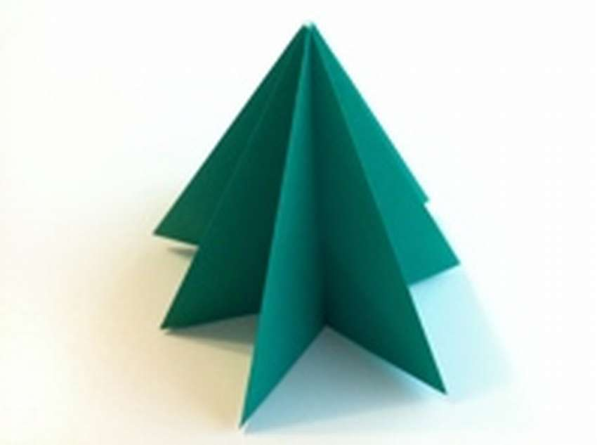 как сделать елку оригами
