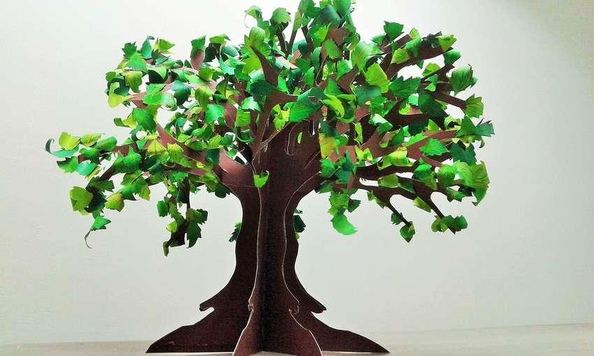 как сделать дерево из бумаги
