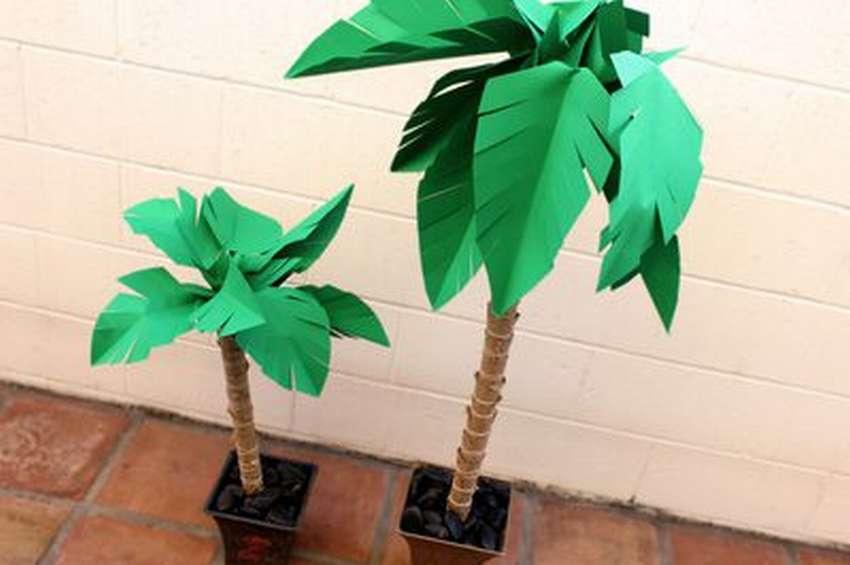 как сделать пальму из бумаги