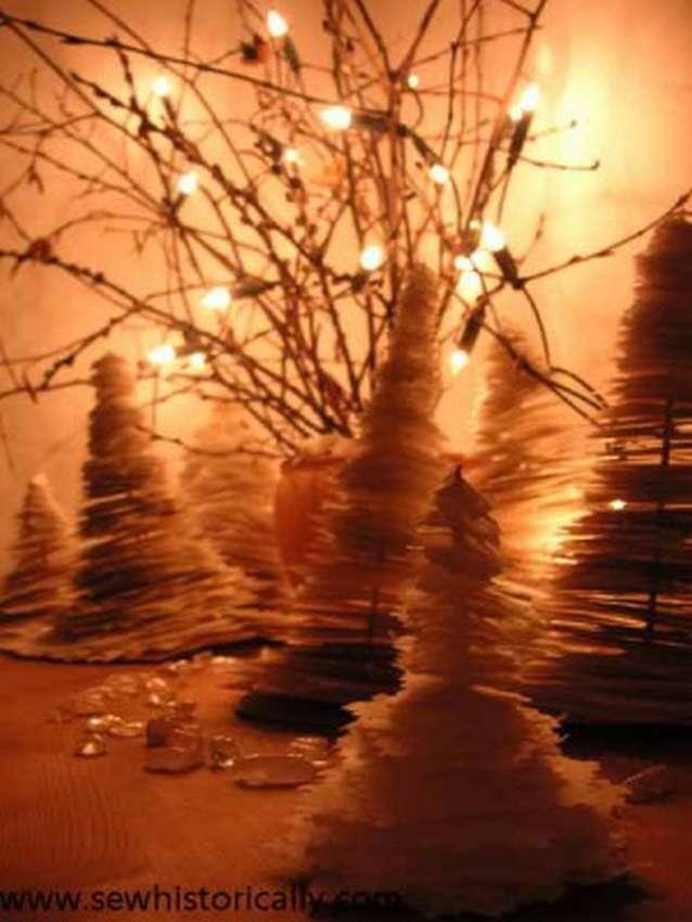 дерево из бумажных листочков