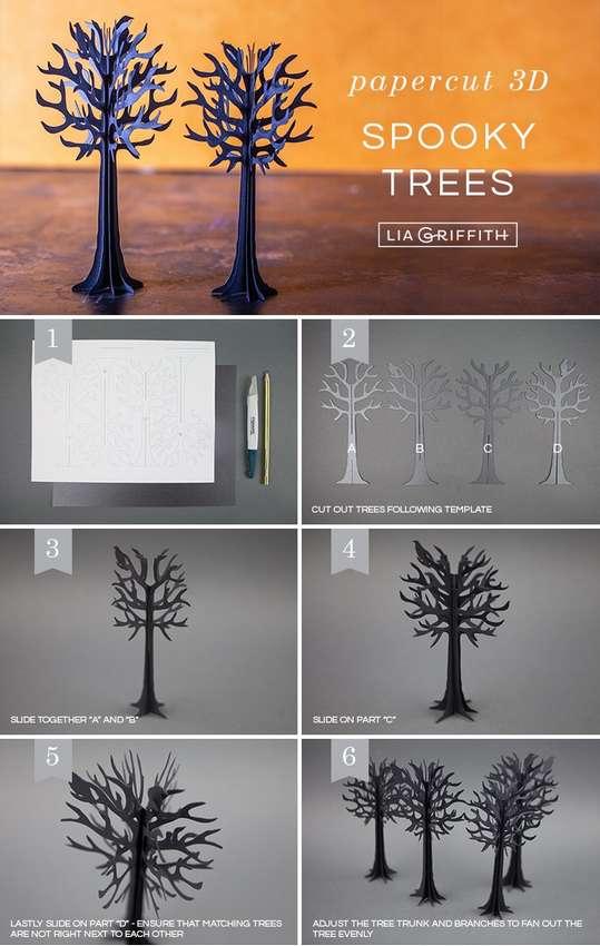сделать деревья из бумаги