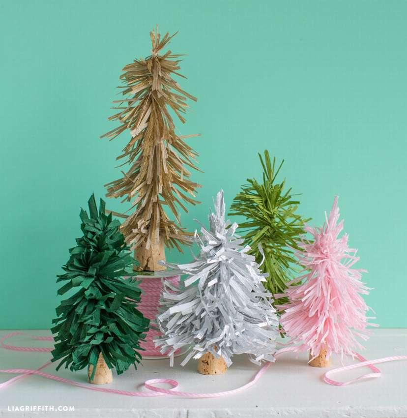 деревья из гофрированной бумаги