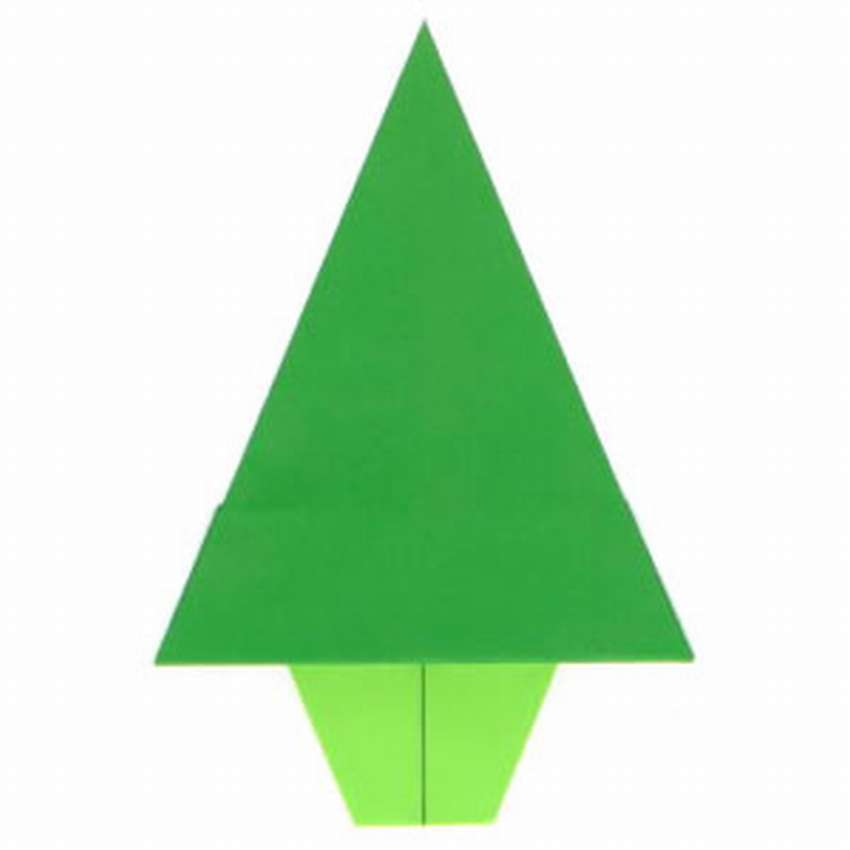 простая елка оригами