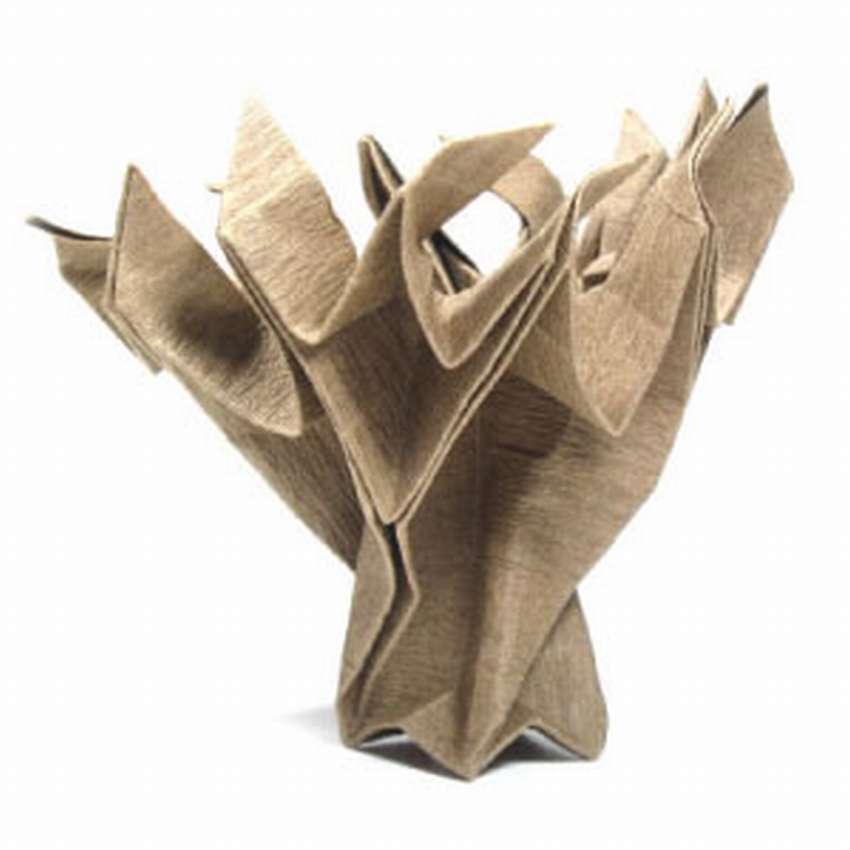 оригами из бумаги дерево схема