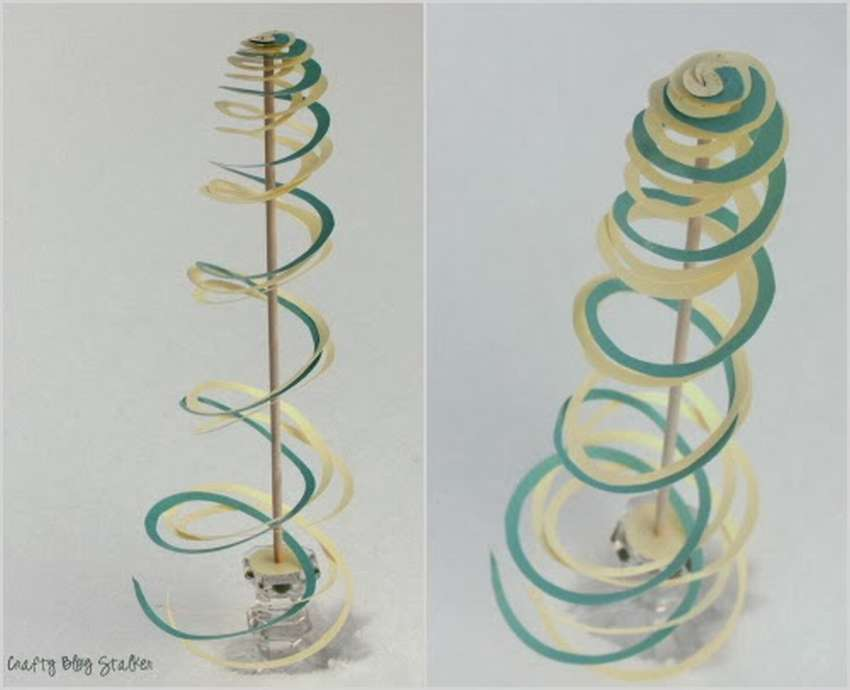 как сделать спиральное дерево из бумаги