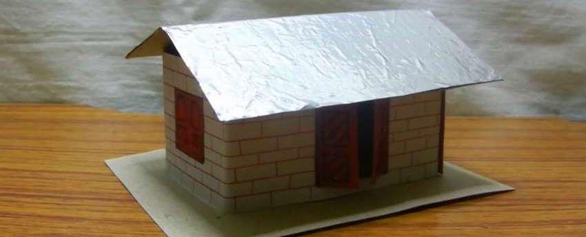 как сделать бумажный домик