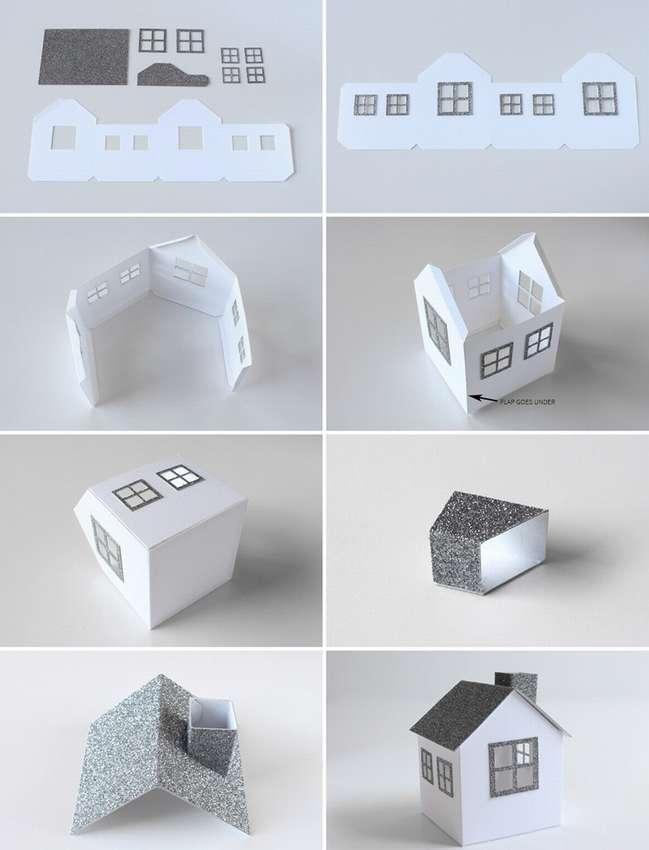 домик из бумаги картона своими руками