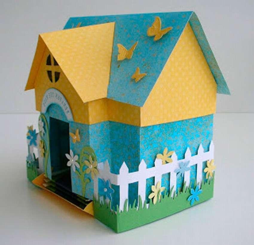 домик из цветных бумаг фото мама-дельфин кормит