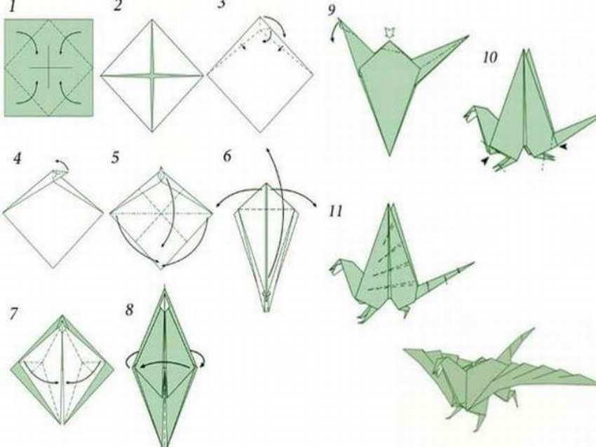 образом оригами дракон из бумаги схема картинки чуть ближе