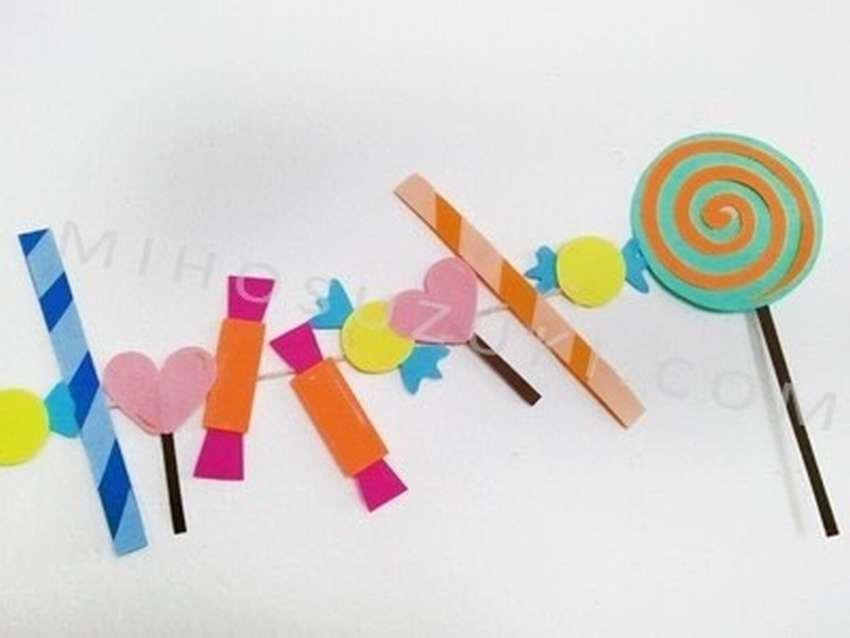 гирлянда из бумажных конфет