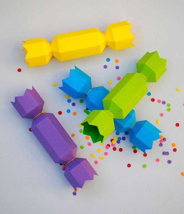 как сделать конфету из бумаги пошагово