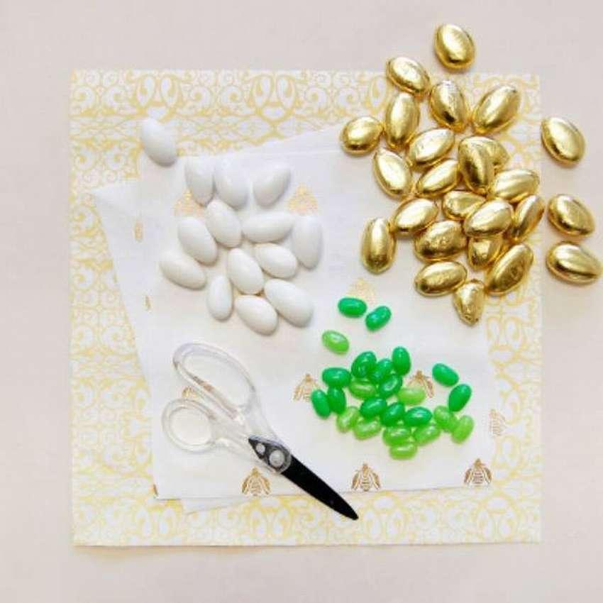 ваза из бумаги для конфет