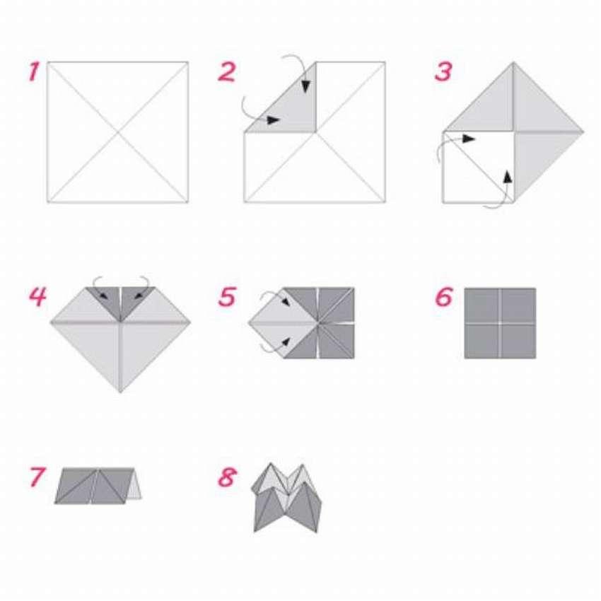 Анимационные, прикольные оригами из бумаги картинки