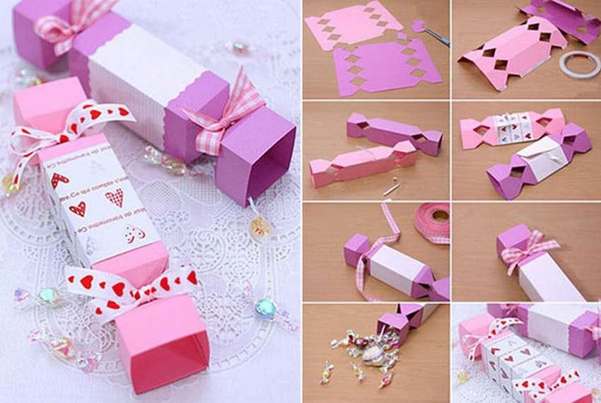 как сделать бумажную конфету