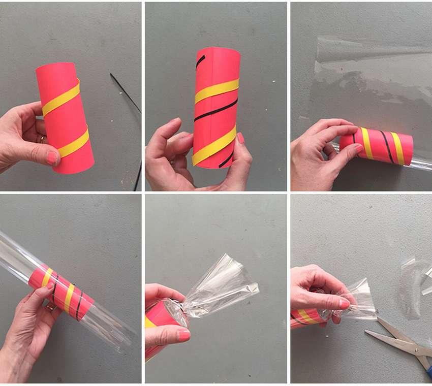 как сделать гирлянду из бумажных конфет