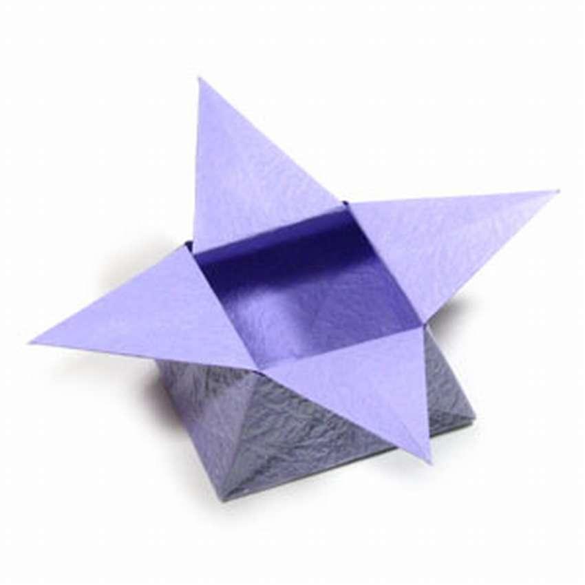 коробка оригами звезда для конфет