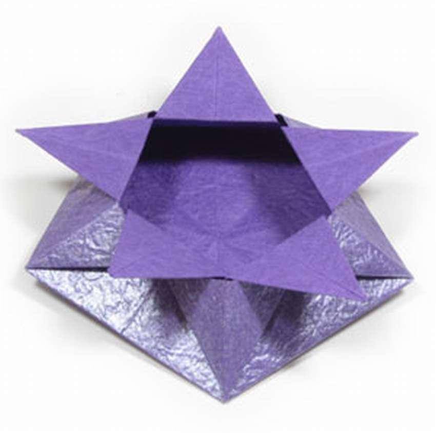 коробка оригами для конфет
