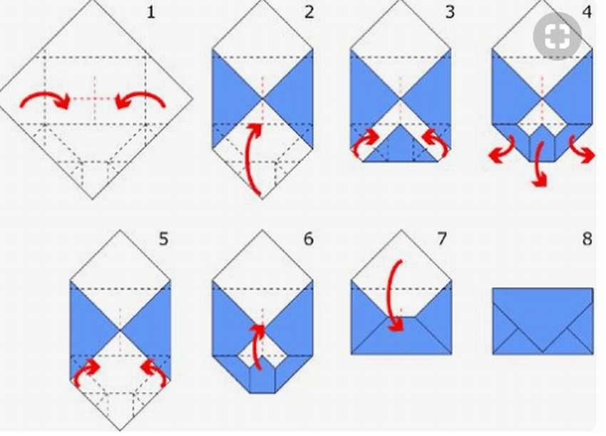 Как сделать конверт для открыток, монстров картинки