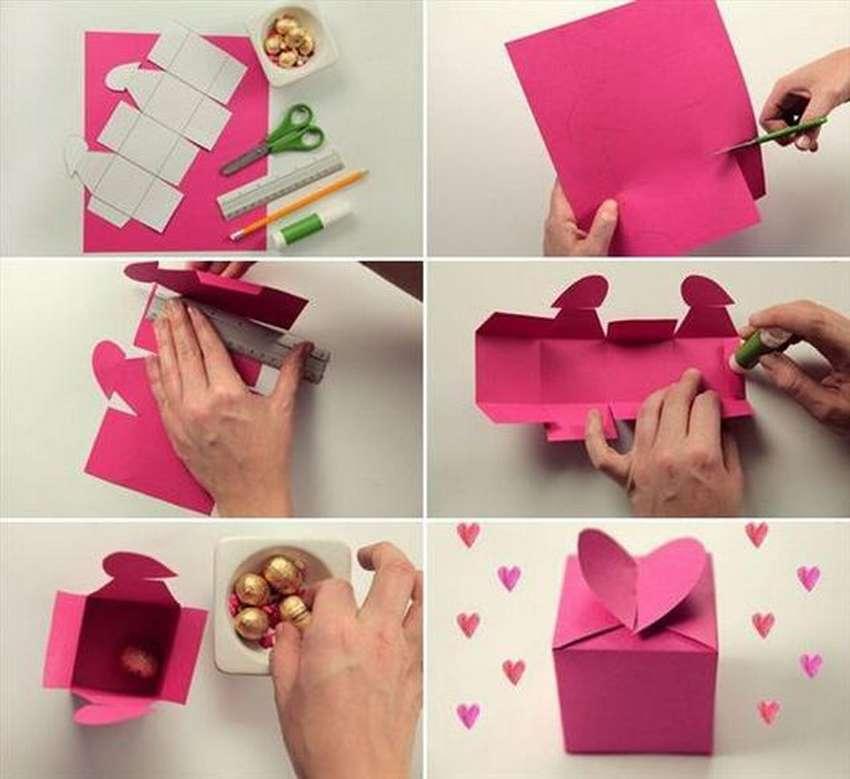 коробочка сердечко из бумаги своими руками