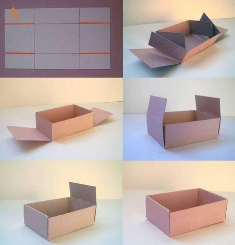 как сделать коробку из бумаги для подарка