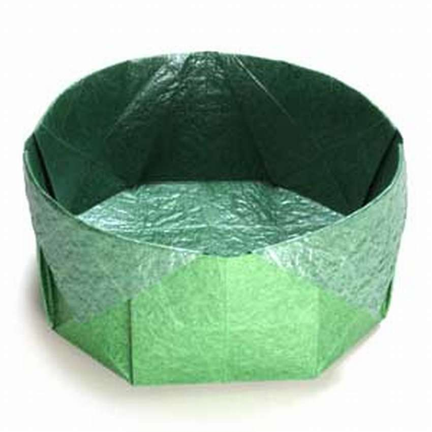 круглая коробочка оригами