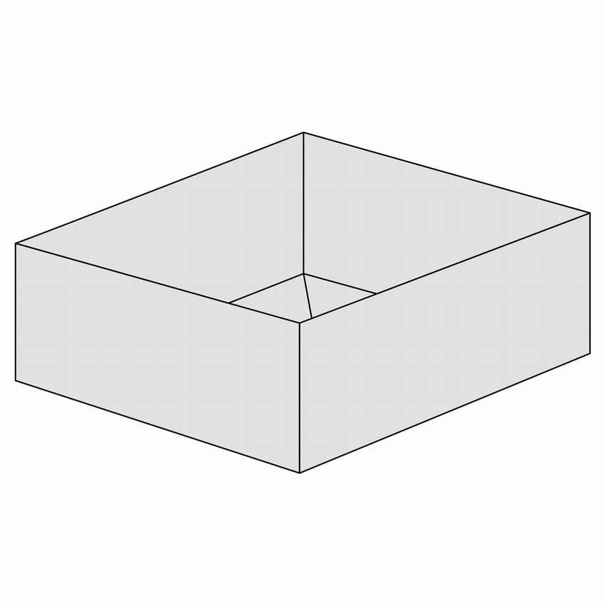 коробочка оригами схема