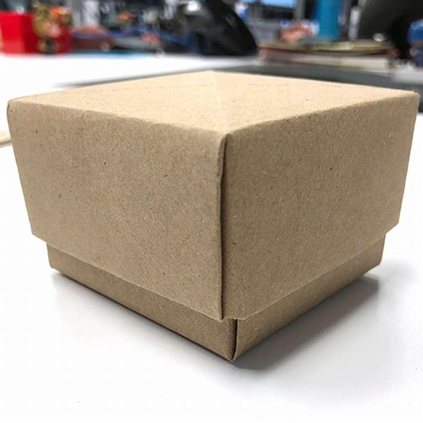 как сделать бумажную коробку с крышкой без клея