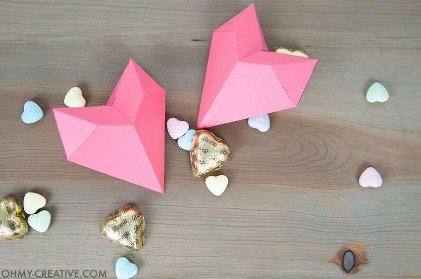 как сделать коробочку сердечко из бумаги