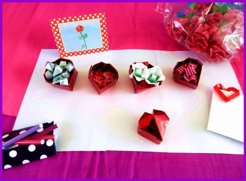 коробочка оригами сердечко