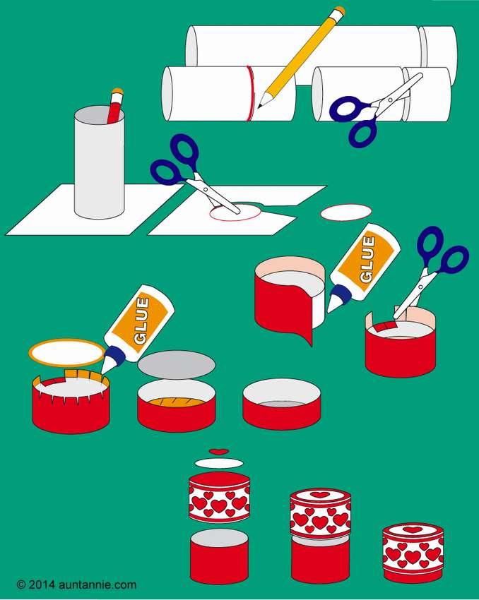 как сделать круглую коробку из бумаги