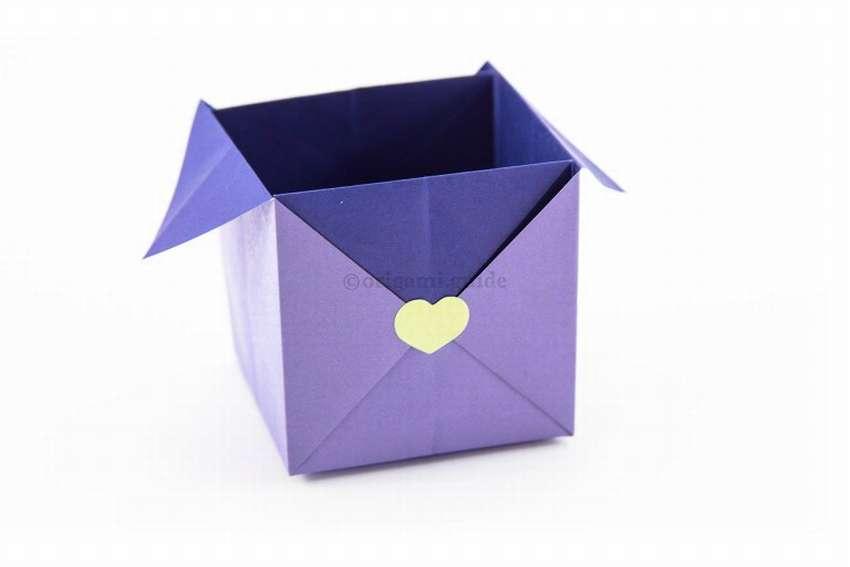 как сделать упаковочную коробку оригами