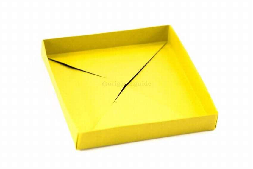 как сделать низкую коробочку из бумаги