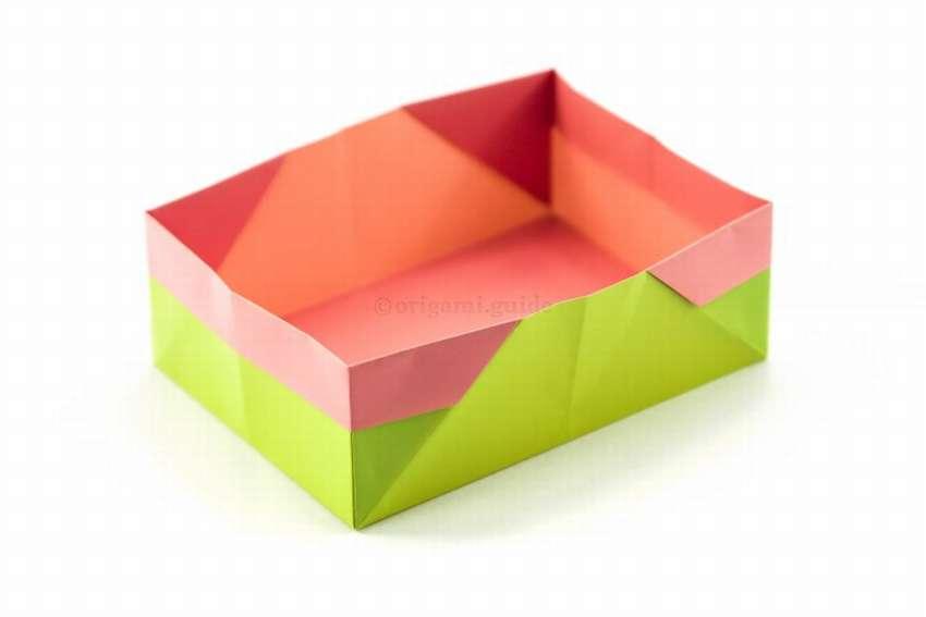 прямоугольная коробочка из бумаги