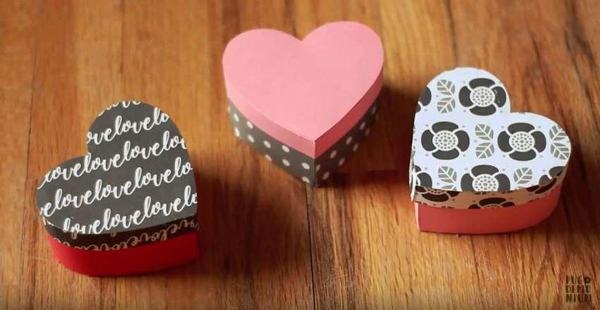подарочная коробка в форме сердца