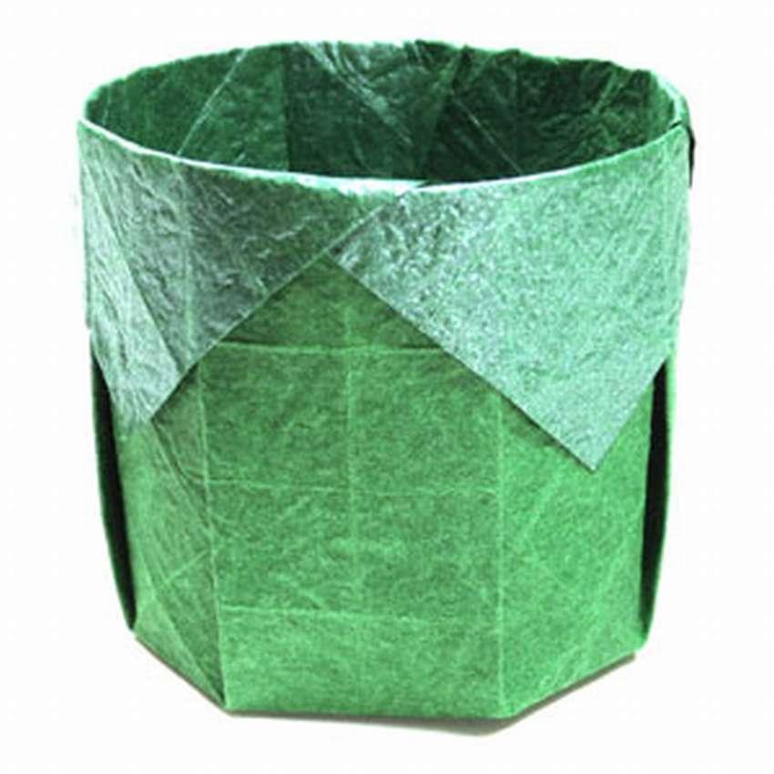 как сделать квадратную круглую коробку оригами