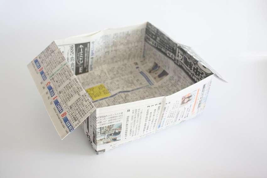 как сделать мусорное ведро из бумаги