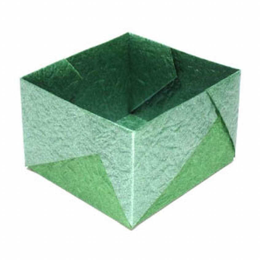 квадратная коробочка из бумаги