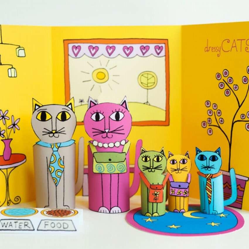 толстый открытки и поделки с кошками друзей