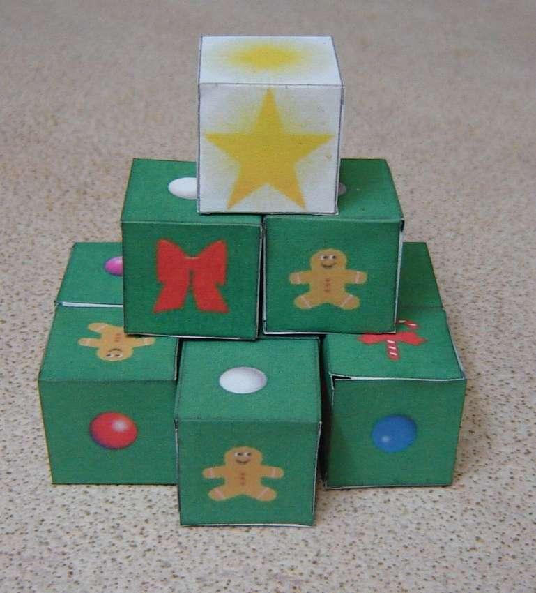кубики из бумаги для детей