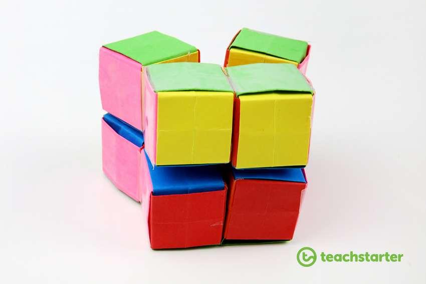 куб бесконечности из бумаги