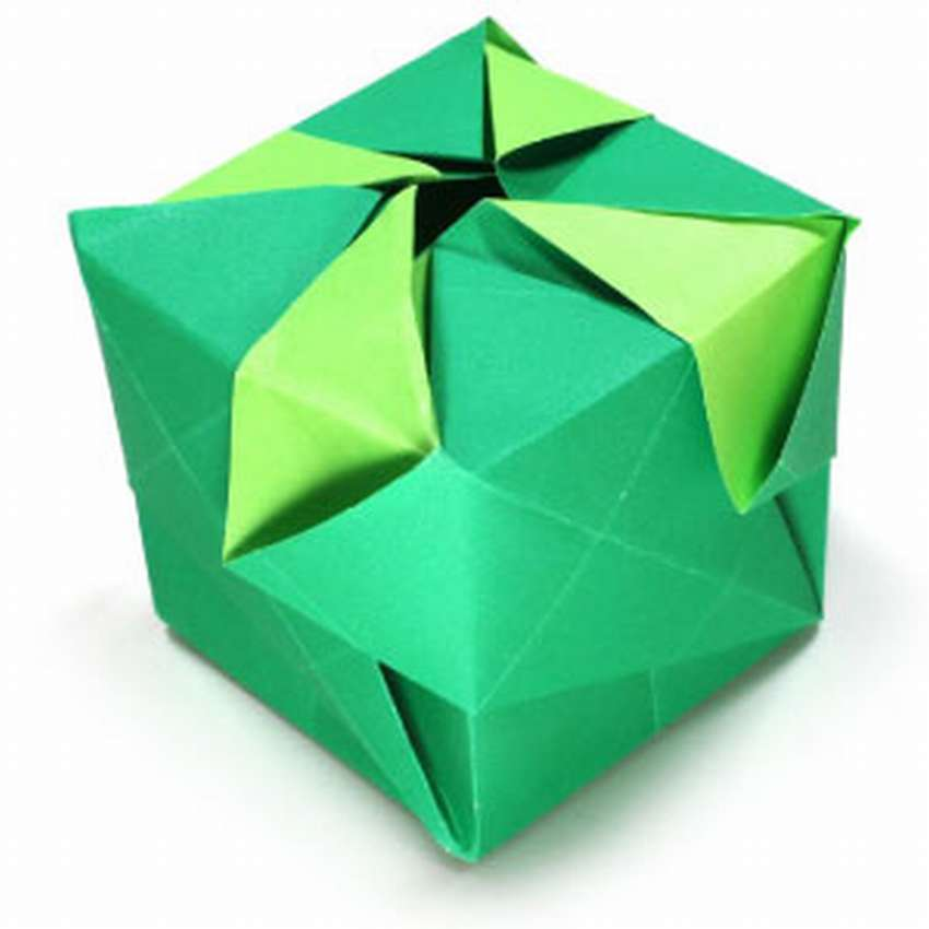 схема куба оригами