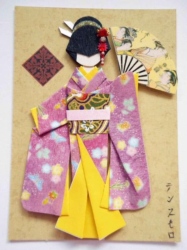 Японские картинки из бумаги