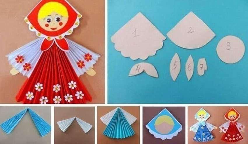 назовем его кукла из цветной бумаги и картона традиции