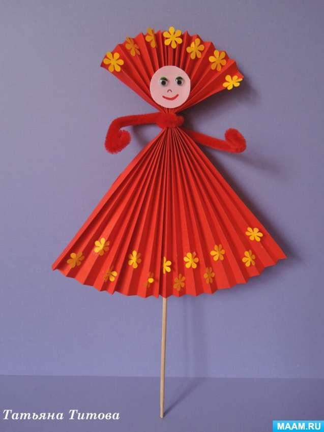 красиво кукла из цветной бумаги и картона наличии