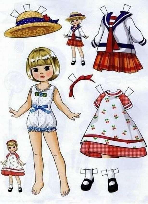 Картонная кукла картинка